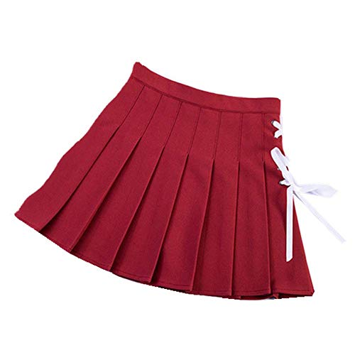 Belt Pleated High Waisted Mini Skirts Cool Girl Punk Style Vintage Sexy Skirts