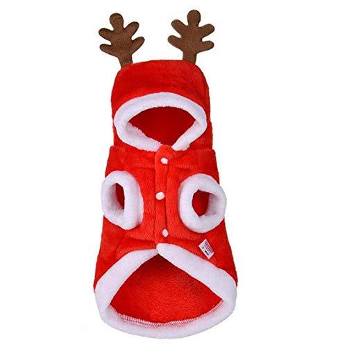 Uayasily Perro Elk Ropa De Navidad para Gatos Y Perros De Perrito De Navidad del Vestido De Lujo para Los Regalos De Peluche Yorkshire Terrier Chihuahua Festivos Tamao De XS