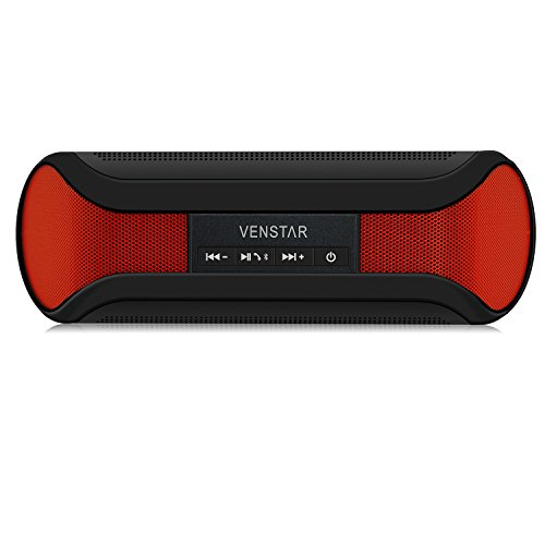I-Venstar CSR 4.0 Portable Bluetooth Speaker Compatible with All Phones and Tablet iPhone Samsung Nexus Laptops Computers MP3 Player (Red/ Black)