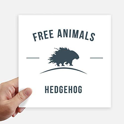 DIYthinker Cartoon Hedgehog Animal Bleu Silhouette Autocollant carré 20CM Mur Valise pour Ordinateur Portable Motobike Decal 4Pcs 20cm x 20cm Multicolor