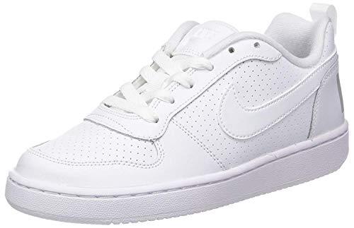 Nike Court Borough Low Gs, Zapatillas de Baloncesto Unisex Niños, Blanco (White / White-White), 38 EU