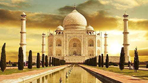 Puzzle 1000Piece Puzzle Taj Mahal India Monumento para Niños Adultos Amigo DIY