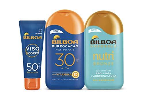 Bilboa, Kit Protezione Solare Con Latte Burrocacao,...