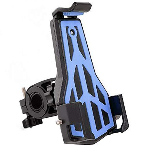 XMSIA Ajustable Bicicleta Titular de teléfono móvil Bicicleta Plástico Tenedor de teléfono móvil Navegador Soporte Super Estable Universal (Color : Blue, Size : 16x9x13cm)
