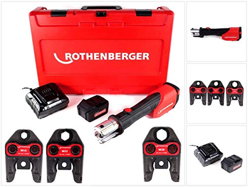 Rothenberger 1000001927, Romax 4000 Set m15-22-28 mm 4 Ah. EU