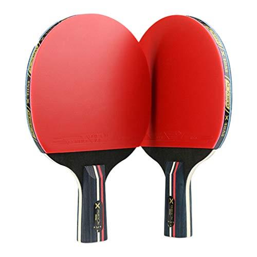 BESPORTBLE 2Ps Tischtennisschläger Tischtennisschläger Chinesische Tischtennisschläger Sporttraining Holz Gummi Tennisschläger für Kinder Erwachsene