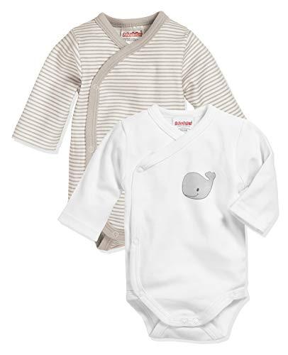 Playshoes Unisex Baby Wickel-body 1/1-arm 2er Pack Wal Baby und Kleinkind Unterw sche Satz, Natur, 62 EU