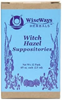 WiseWays Herbals Witch Hazel Suppositories 2.5 ml,(pack of 3)