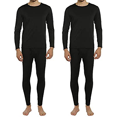ViCherub Men's Thermal Underwear Set Fleece Lined Long Johns Winter Base Layer Top & Bottom 2 Sets for Men