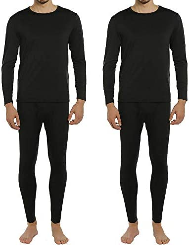 ViCherub Men s Thermal Underwear Set Long Johns Fleece Lined Warm Base Layer Thermals 2 Sets product image