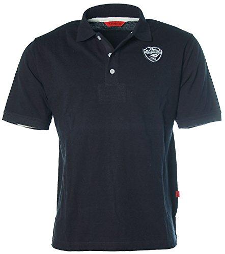 Signum Herren Kurzarm Shirt Poloshirt Polokragen Pikee St. Stefano Del Mare Navy L