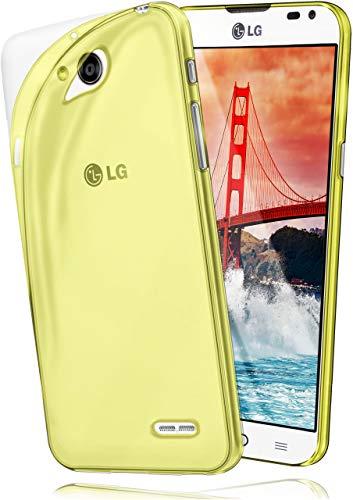 moex Aero Hülle kompatibel mit LG L90 - Hülle aus Silikon, komplett transparent, Klarsicht Handy Schutzhülle Ultra dünn, Handyhülle durchsichtig einfarbig, Gelb