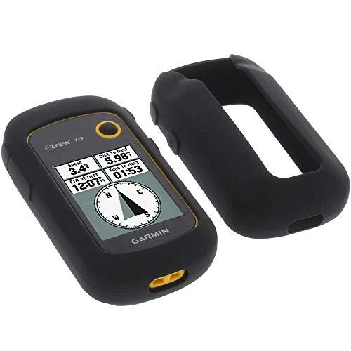 foto-kontor Funda para Garmin eTrex 20x 22x 32x Protectora Silicona Carcasa protección Negra