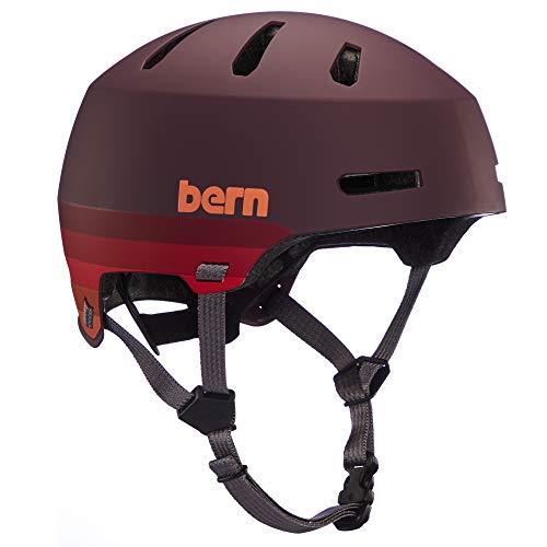BERN, Macon 2.0 MIPS Multisport Helmet, Retro Maroon, Small