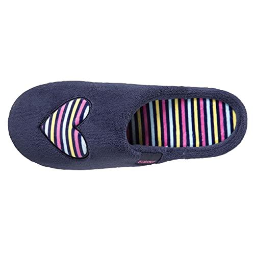 Isotoner - Zapatillas para niña, diseño de rayas, azul marino, 36 EU