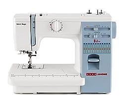 Usha Janome Automatic Stitch Magic 70-Watt Sewing Machine (White And Blue),Usha,Stitch magic