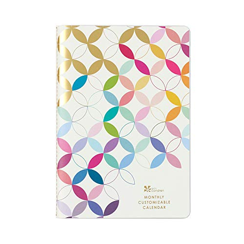 Erin Condren Monthly Customizable Undated 12 Month Agenda Petite Planner - Perfect for Tracking Monthly to-Dos or Monthly Project Goals. 140 Stickers Included