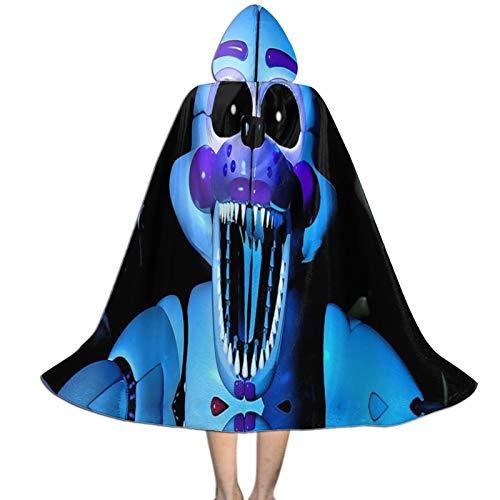 LLYMG Hooded Cloak Kids Cape FNAF-Sister-Location Costumes Cosplay Halloween Girl Men Novelty Dress Up Small