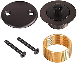 Brass Bathtub Lift and Turn Tub Drain Conversion Kit Assembly Oil rubbed Bronze ORB