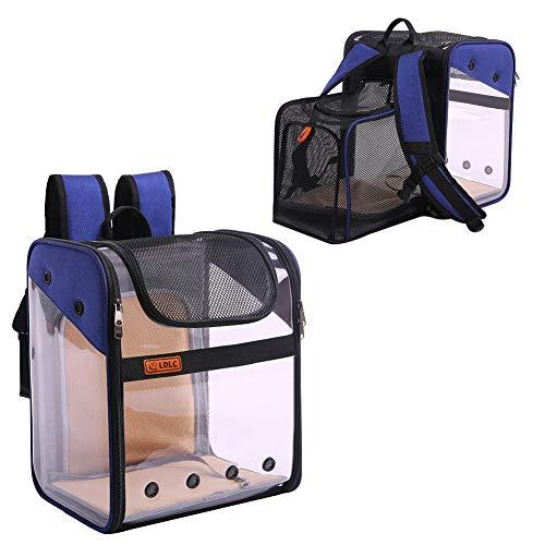 Kuoser Rucksack für Hunde und Katzen, erweiterbar, faltbar, mit atmungsaktivem Mesh-Fenster, transparent, zum Mitnehmen, für Welpen, Kätzchen, Wandern, Camping, Outdoor, Auto