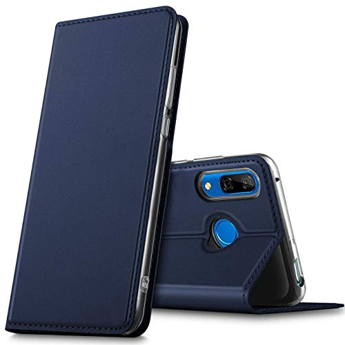 Verco Handyhülle für P Smart Z, Premium Handy Flip Cover für Huawei P Smart Z Hülle [integr. Magnet] Book Hülle PU Leder Tasche, Blau