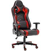 Racing-Stuhl, Gaming-Stuhl, Drehstuhl, Computer-Schreibtischstuhl, Bürostuhl, Kunstleder
