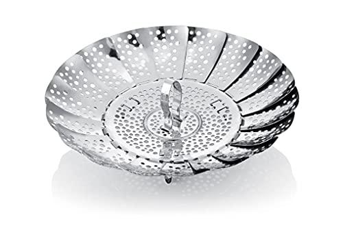 Tescoma 644806 Presto Cestello per Cottura a Vapore, Acciaio Inossidabile, Argento, 24 cm, 1 Pezzo