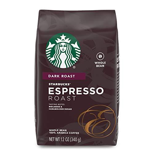 Starbucks Dark Roast Whole Bean Coffee — Espresso Roast — 100% Arabica — 1 bag (12 oz.)