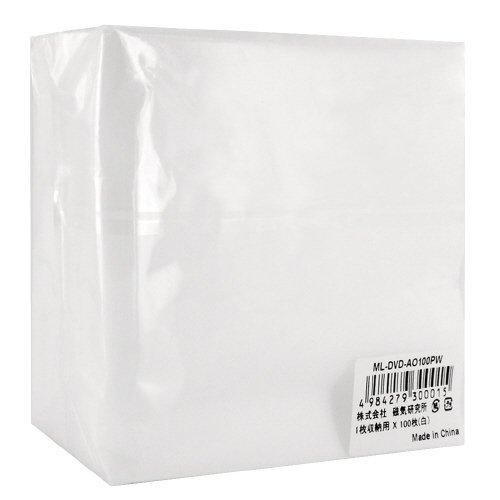 磁気研究所 不織布片面タイプ100P 100枚入りCD/DVDケース