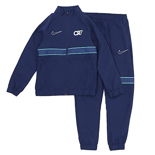 Nike Dri-fit Cr7 Trainingsanzug für Kinder XL Blauer Hohlraum/Hyperjade/Metallic Silber