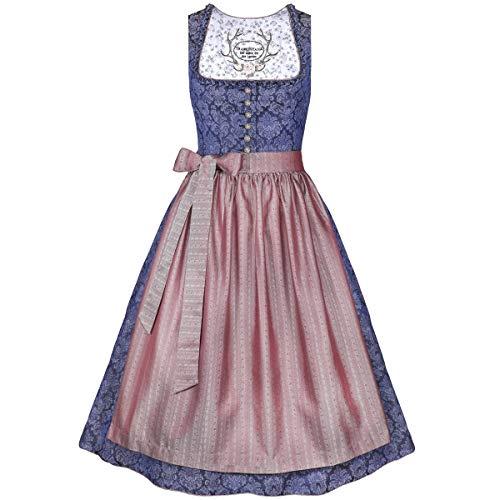 Tramontana Damen Trachten-Mode Midi Dirndl Brigitte in Dunkelblau traditionell, Größe:40, Farbe:Dunkelblau