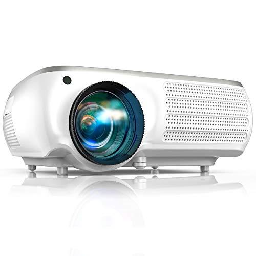 Vidéoprojecteur TOPTRO 7000 Lumen Video Projecteur Full HD 1080P Natif 1920x1080 Soutien 4K, Réglage Digital 4D, Fonction Zoom