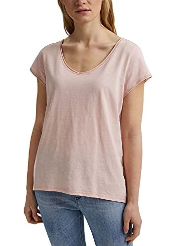 Esprit 031ee1k326 Camiseta, Color Carne, S para Mujer