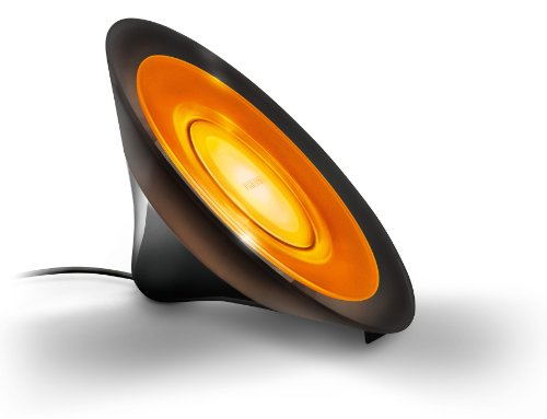Philips Living Colors Aura, Energiesparende LED-Technologie mit 8 Watt, 16 Millionen Farben, mit Fernbedienung, schwarz 7099830PH - 4
