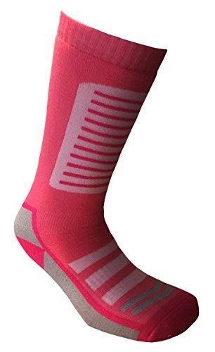 i-Smalls Damen 1er Pack Thermal Snowboarding Ski Socken (35-41) Rosa/Grau