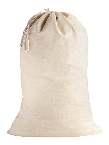 SweetNeedle - 100% Baumwolle extra große Heavy Duty Wäschebeutel in natürlicher Farbe - 71 x 91 cm (28 x 36 Zoll) - Sehr langlebig, Kordelzug mit Kordelzug, maschinenwaschbar und wiederverwendbar