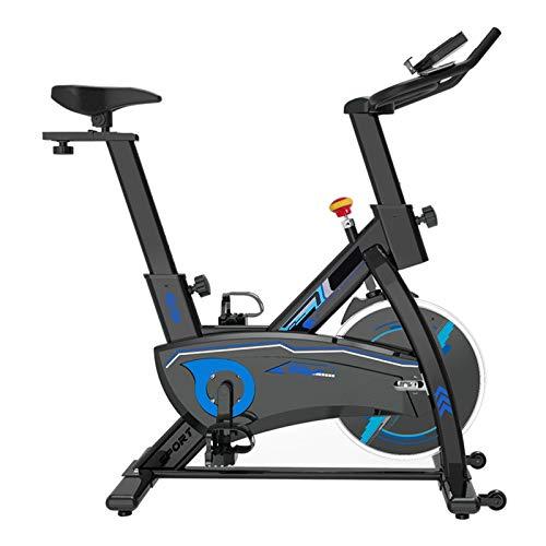 Pot Bicicleta Estática Cubierta, Hogar Control Magnético Ultra Silencioso Interior de Pérdida de Peso de la Bicicleta de Ejercicio Gym Equipment (Color : Negro)