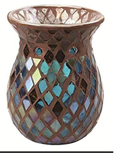 YANKEE CANDLE Autumn Mosaic Duftlampe, Glas, Mehrfarbig, 15 x 11 x 11 cm