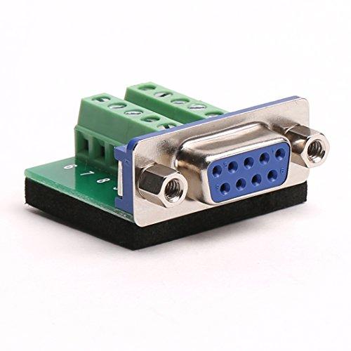 DB9Adapterplatte DB9RS232seriell zu Klemmenblock 10P-Adapter Female 1 Stück