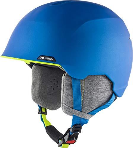 ALPINA ALBONA Skihelm, Unisex– Erwachsene, blue-neon-yellow matt, 57-61