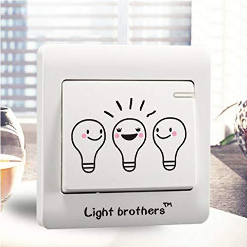 QLIYT Diy Drôle Mignon Ampoule Interrupteur Autocollant Stickers Muraux Décor À La Maison Chambre Salon Décoration
