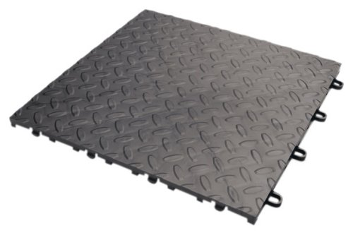 Gladiator GAFT04TTPC Charcoal Floor Tile, 4-Pack