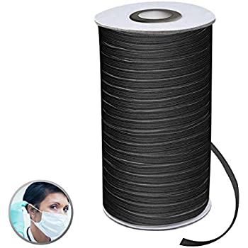 200Y 1//8/'/' 1//4/'/' Elastic Rope Band Rubber Tape Stretch String Ear Hanging DIY