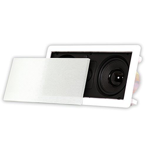 Acoustic Audio HD-5c in Wall Speaker Center Channel Speaker Home Theater Surround Sound, White