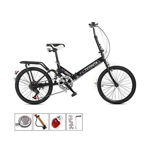 LEL 20-Inch Folding 6 Speed Leisure Bicycle Mini Lightweight Bike Small Portable Bicycle