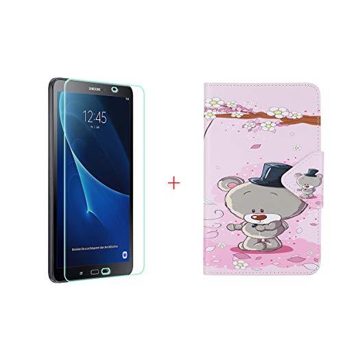 szjckj Protector de Pantalla + PU Carcasa para Samsung Galaxy Tab A...