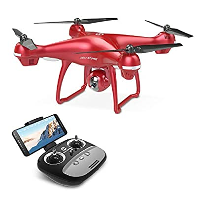 Holy Stone HS100 Drone with 1080p HD Camera FPV Live Video RC Quadcopter with GPS Return Home Function Follow Me and Altitude Hold, Drone for Beginners, Kids and Adults, Color Red