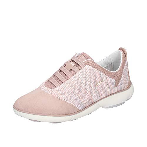 GEOX Sneakers Mujer Gamuza Rosa 35 EU