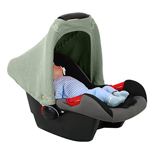 SunshineFace Housse de siège de voiture pour bébé - En tricot extensible - Respirante