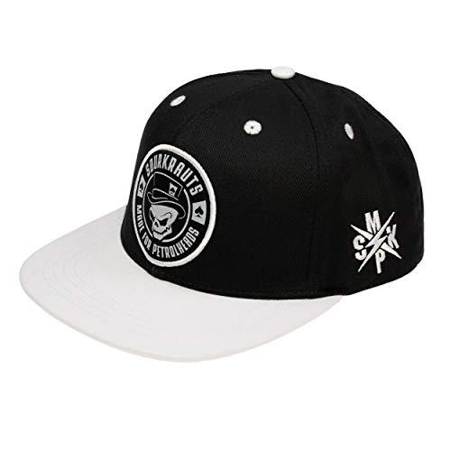 SOURKRAUTS Snapback SK II I Baseball Cap in Schwarz-Weiss für Herren I Tuning Basecap I Kappe mit SK II Logo